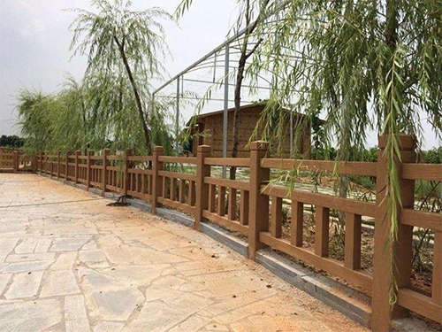 常州城市道路护栏-仿木护栏安装